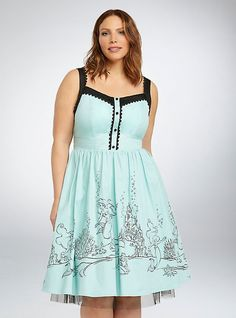Plus Size Disney Ariel Collection Swing Dress, EGGSHELL BLUE