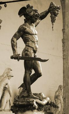 Perseus With The Head Of Medusa Photograph - Perseus With The Head Of Medusa by Zinvolle Art