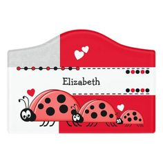 $12.95 | Ladybug baby nursery with name white and red #playroom #kidsroom #name #nameplate #ladybugs #redandblackladybirds #newbaby #white #grey #red Kids Door Signs, Baby Ladybug, Foam Adhesive, Red Gifts, Dry Erase Board, Room Signs, Acrylic Material, Make Your Mark, Keep It Cleaner