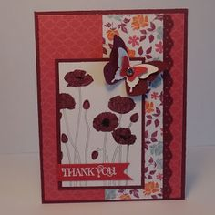 Paper craft and card idea using Stampin' Up! Pleasant Poppies and Curly Cute stamp sets. Crafting the Day Away: http://supersuelovestocraft.blogspot.com/