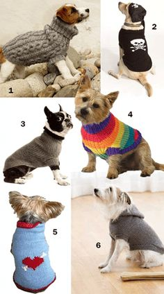 Free Knitting Patterns for Dog Sweaters - Six Options
