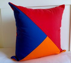 Throw Pillow Geometric Modern Home Accent Red by CushionsandMore, $33.00