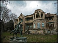 Tatoi Palace - an abandoned 10,000 acre property that was once the summer residence of the Greek Royal Family. During WWI (during George II's exile), Germany occupied the house and used the woods for fuel and buried bodies in mass shallow graves. In the 1920s, the house was stolen & returned in 1936. In 1946, the Royal Family gained possession. In 1973 the home was forcibly requistioned.