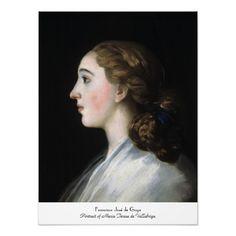 Portrait of Maria Teresa de Vallabriga Goya art Poster