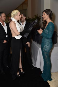 Taylor Kinney, Lady Gaga and Julia Jackson. Photo: Rob Latour/Variety/REX/Shutterstock