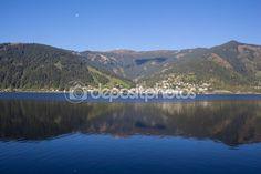 #View To #ZellAmSee #Lake #Zell & #Kitzsteinhorn @depositphotos #depositphotos #nature #landscape #mountains #hiking  #travel #summer #season #sightseeing #vacation #holidays #leisure #outdoor #view #wonderful #beautiful #panorama #stock #photo #portfolio #download #hires #royaltyfree