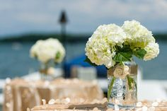 Cocktail hour on the lake - Bay Pointe Inn weddings on Gun Lake in Michigan