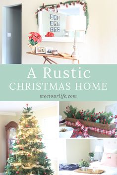 Rustic Christmas Home - Find inspiration on how to get the fixer upper look this holiday season with some rustic farmhouse decor.  Click through or repin for later.  www.meetourlife.com