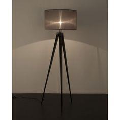 Zuiver Tripod Vloerlamp - Zwart/Grijs