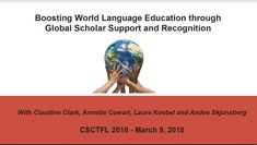 Presenter: Annette Cowart - part 1 of 2 World Languages, Milwaukee, Conference, Presentation, Education, Onderwijs, Learning