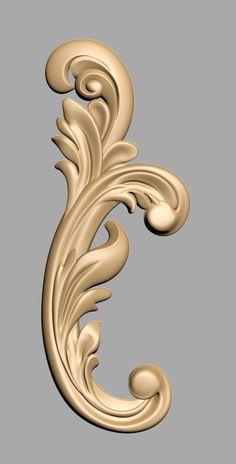 undefined Wood Carving Designs, Wood Carving Patterns, Motif Baroque, Filigree Tattoo, Cnc Cutting Design, 3d Cnc, Cnc Wood, Decorative Mouldings, Ornaments Design