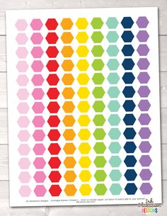 Hexagons Printable Planner Stickers – Erin Bradley/Ink Obsession Designs
