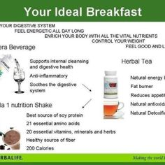 Herbalife, says it all really. I know it feels good and tastes good and I have lots of energy :-) www.goherbalife.com/sharonvnelson