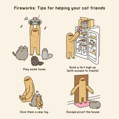 """5,048 gilla-markeringar, 65 kommentarer - Pusheen (@pusheen) på Instagram: """"With the New Year just around the corner, keep these helpful tips in mind to help your kitties stay…"""""""