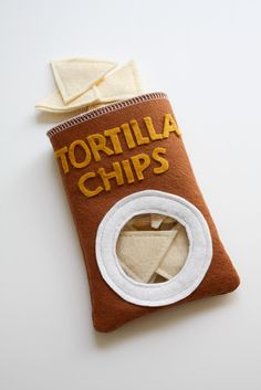 Tortilla Chips | craftiness is not optional: felt/fabric food