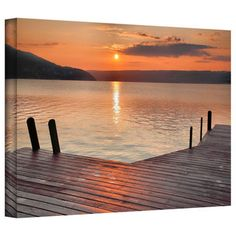 Steve Ainsworth 'Another Kekua Sunrise' Gallery-Wrapped Canvas   Overstock.com Shopping - Top Rated Art Wall Canvas