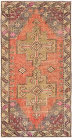 Hand-knotted Anadol Vintage Copper, Khaki Wool Rug