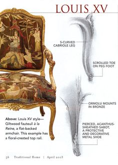 Explanation of Louis XV style Chairs