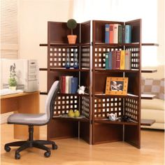 Room Divider Screen with Shelves - Two Birds with One Stone