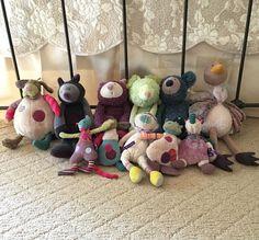 11 Piece Lot Moulin Roty Stuffed Animal Plush Toy Les Zazous Les Jolis Pas | eBay