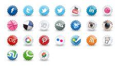 25 Awesome Social Media Icon Sets for 2014