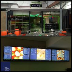 Digital Menu Board Solution Installed at iCurry