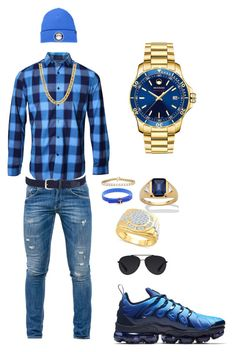 Blues by tikitress on Polyvore featuring Lords of Harlech, Dondup, Movado, Bally, Anderson's Belts, '47 Brand, StingHD, Palm Beach Jewelry, NIKE and men's fashion