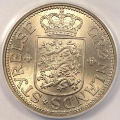 1926-Greenland-25-Ore-ANACS-MS65-Rare-Gem-BU-Certified-Polar-Bear-Coin