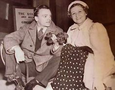 """James Cagney (1899-1986) and his wife Frances, known as """"Billie"""" (1899-1994)  The Cagneys were married for 64 years, from 1922 until his death."""