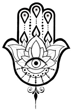 A Hamsa tattoo design I created.