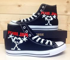 Pearl Jam Converse..... I want these :)