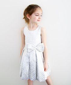 Look at this #zulilyfind! Silver Honeycomb Pleated Dress - Infant & Girls #zulilyfinds