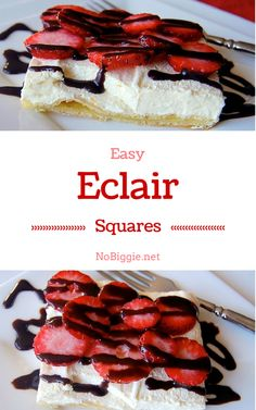 easy eclair squares | get the recipe on NoBiggie.net