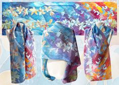 Silk scarf Lilies scarf hand painted silk scarves by MinkuLUL Painted Silk, Hand Painted, Butterfly Scarf, Silk Art, Silk Painting, Silk Scarves, Silk Fabric, Alcohol Inks, Yellow