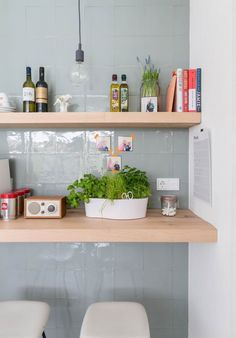 Great tiles for the kitchen, also love the color - Keuken-wand-tegels Java Sea Green van VT Wonen Gray Tile Backsplash, Kitchen Backsplash, Kitchen Interior, Kitchen Design, Kitchen Decor, Kitchen Rules, Scandinavian Kitchen, Scandinavian Design, Kitchen Styling