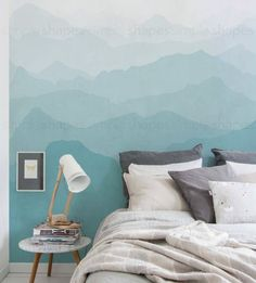 Mountain Mural Wall Art Wallpaper - Peel and Stick