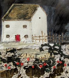 'rose Cottage'  by Louise O'Hara of DrawntoStitch www.drawntostitch.com