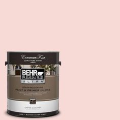 BEHR Premium Plus Ultra 1-gal. #M160-1 Cupcake Pink Flat Exterior Paint-485001 - The Home Depot
