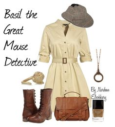 """Basil the great mouse detective-female outfit"" by nardeenelsokkary ❤ liked on Polyvore"