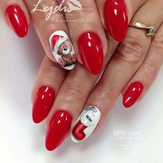 Фотография nail art designs 2019 nail designs for short nails step by step full nail stickers nail art stickers how to apply best nail wraps 2019 Xmas Nails, Holiday Nails, Red Nails, Love Nails, Pretty Nails, Christmas Nail Designs, Christmas Nail Art, Nail Art Noel, Natural Gel Nails