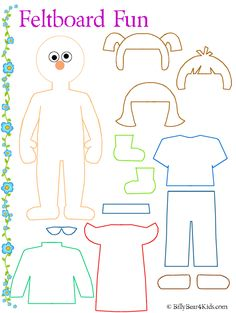 Feltboard or PaperDoll pattern. There are also instructions for making a feltboard