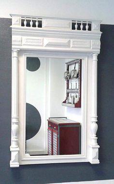 Rue-des-Relookeurs: Miroirs style Henri II laqué blanc
