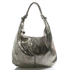 b928d67040  kabelka  ItalY Zlatá luxusní třpytivá kožená kabelka ItalY s tmavě hnědým  podkladem. Tento
