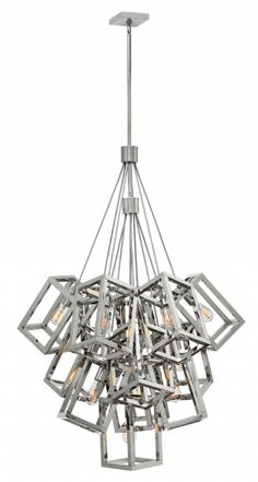 Hinkley Lighting carries many Polished Nickel* Ensemble Chandeliers light fixtures that can be used to enhance the appearance and lighting of any home.