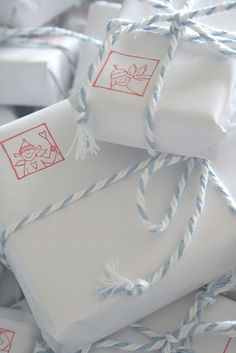 Stamped gift wraps