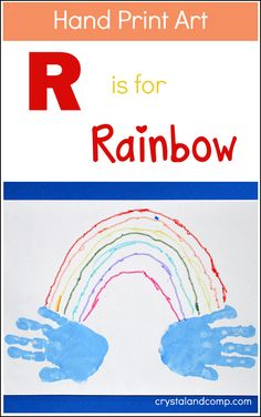 We're back with another hand print art for the alphabet post! Our last post was a quilt for the letter Q. This week, we are sharing R is for Rainbow. Besides a letter of the week theme, it's a grea...