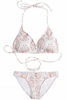 Complete your swimwear collection ensemble with a medallion print bikini!