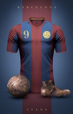 Barcelona - Camisetas vintage de gigantes de Europa
