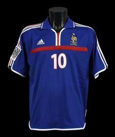 5d8d0f934 Zinedine ZIDANE n°10. Maillot porté avec l équipe de France face au