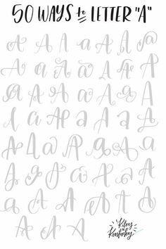 Resultado de imagen para 50 ways to letter a